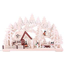3D Double Arch - Winter Landscape - 62x39x8 cm / 24x15x3 inch