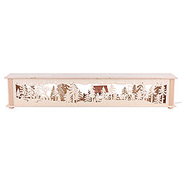 Illuminated Stand Deer and Cratch for Candle Arches - 80x15x12 cm / 31x6x5 inch