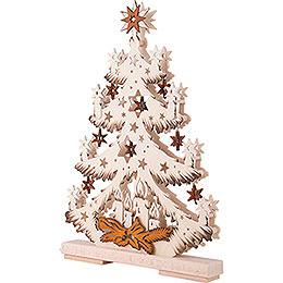 Light Triangle - Fir Tree with Stars - 32x44 cm / 12.6x17.3 inch