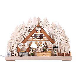 3D-Schwibbogen Weihnachtsbackstube - 44x29x7 cm