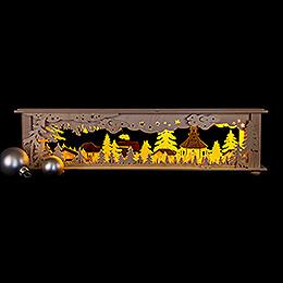 Illuminated Stand - Forest Seiffen - 50x12 cm / 19.7x4.7 inch