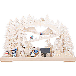 3D Candle Arch - Happy Snowman - 43x30 cm / 17x15 inch