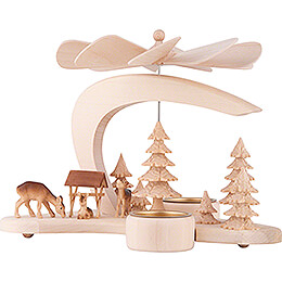 1-Tier Pyramid - Deer Family - 17 cm / 6.7 inch