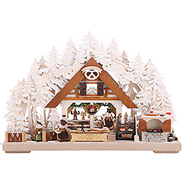 3D Candle Arch - Molli's Christmas Bakery with White Frost - 43x30 cm / 17x12 inch