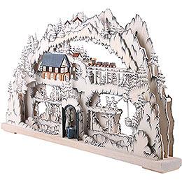 3D Candle Arch - Mining Scenery - 72x42x8 cm / 28x17x3 inch