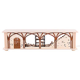 Illuminated Stand Carpenter's Storage for Candle Arches - 50x12x10 cm / 20x5x4 inch