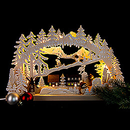 3D Double Arch - Winter Pleasures with White Frost - 43x30 / 17x12 inch