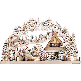3D Double Arch - Snowmolli-Paradise with White Frost - 72x43 cm / 28x17 inch