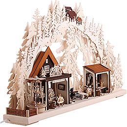 3D-Doppelschwibbogen Kunsthandwerkerhaus - 72x43 cm