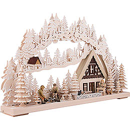 3D Double Arch - Lumberjack with White Frost - 72x43 cm / 28x17 inch