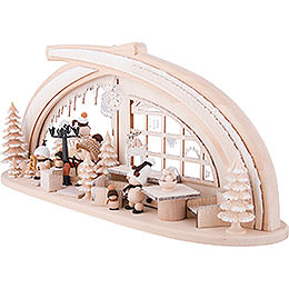 Candle Arch - Solid Wood Ice Cave with White Frost - 59x30 cm / 23x11.8 inch