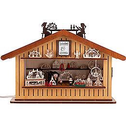 Lichterhaus Weihnachtsmarktbude - 20 cm