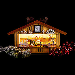 Lighted House - Christmas Market Stall - 20 cm / 7.9 inch