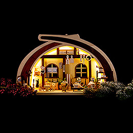 Candle Arch - Solid Wood Cafeteria - 45x30 cm / 17.7x11.8 inch