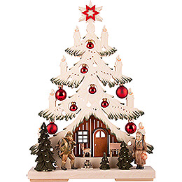 Light Triangle - Fir Tree - Forest People  - 32x44 cm / 12.6x17.3 inch