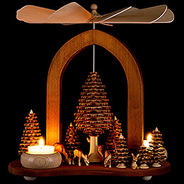 1-Tier Pyramid - Star Arch - Forest - 26 cm / 10.2 inch