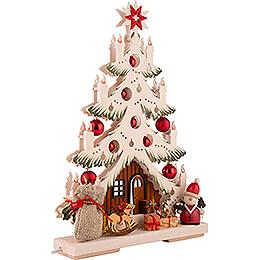 Light Triangle - Fir Tree - Santa - 32x44 cm / 12.6x17.3 inch
