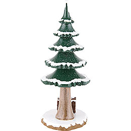 Winter Children Tree with Wood - 17 cm / 7 inch