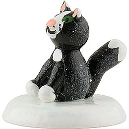 Winterkinder 6er Set Katze schwarz - 2,5 cm