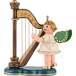 Angel with Harp - 6,5 cm / 2,5 inch