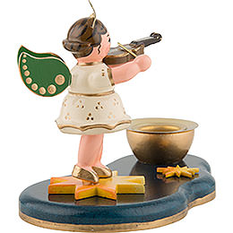 Angel with Violin - Candle Holder - 6,5 cm / 2,5 inch