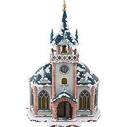 Winter Children Church Illuminated - 31 cm / 12 inch