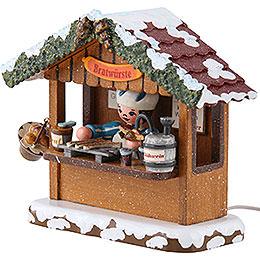 Winter Children Market Booth Bratwurst House - 10 cm / 4 inch