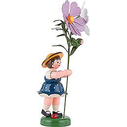 Blumenkind Mädchen mit Cosmea - 24 cm