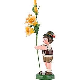 Blumenkind Junge mit Lilie - 24 cm