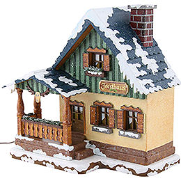 Winter Children Forest House Illuminated - 15 cm / 6 inch