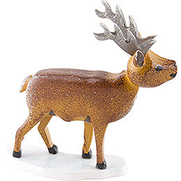Winter Kids Set of Four Stag - 6 cm / 2,4 inch