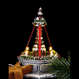 Winter Children Fountain with Electric Lights - 12 cm / 4.7 inch