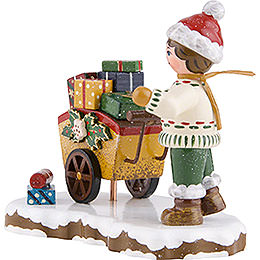 Winter Children Child with Gifts - 8 cm / 3 inch
