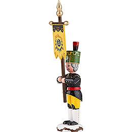 Winterkinder Bergmann mit Standarte - 9 cm
