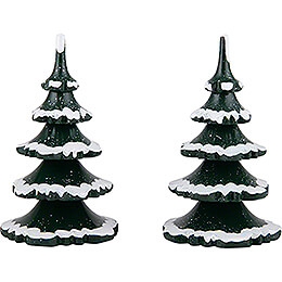 Winter Children Trees - Large - Set of 2 - 11 cm / 4.3 inch
