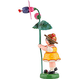 Flower Girl with Fuchsia - 11 cm / 4.3 inch