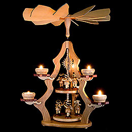 2-Tier Pyramid with Angels - 47x37x37 cm / 18.5x14.5x14.5 inch