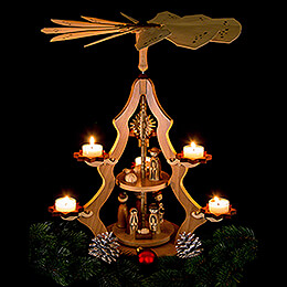 2-Tier Pyramid - Nativity Scene - 47 cm / 19 inch