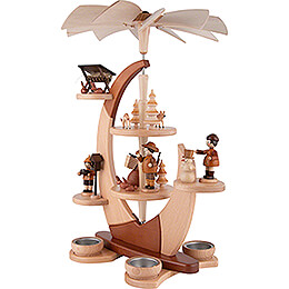 2-Tier Tea Candle Pyramide Sail with Figures - 42 cm / 16.5 inch