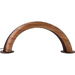 Designholzbogen Zebrano/Wenge - 55x22,5 cm