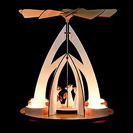 1-stöckige Pyramide mit Engeln - 25 cm