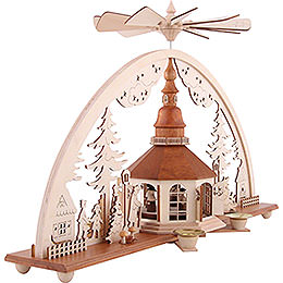 Candle Arch - Candle Pyramid, Church of Seiffen - 51x27 cm / 20x10.7 inch