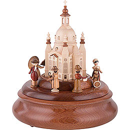 Electronic Music Box - Historical Scene in Front of Church of Our Lady - 21 cm / 8 inch