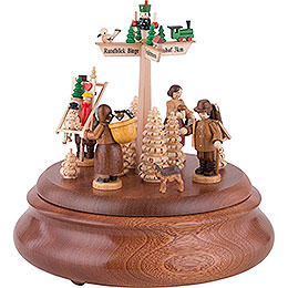 Electronic Music Box - Town of Seiffen - 19 cm / 7.5 inch