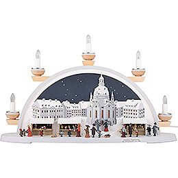 Candle Arch - Dresden Christmas Market Approx. 1900 - 54x32x12 cm / 21x12.5x4.7 inch