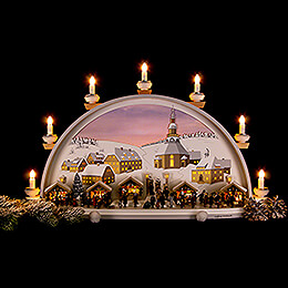 Candle Arch - Christmas in Seiffen - Limited by Klaus Kolbe - 70x40x17,5 cm / 27.5x15.5x7 inch