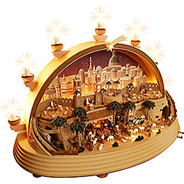Candle Arch - Nativity Scene in Bethlehem - Limited Edition - 74x28x58 cm / 29x11x23 inch