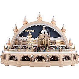 Schwibbogen Dresdner Striezelmarkt (2. limitierte Ausgabe) - 81x31x52 cm