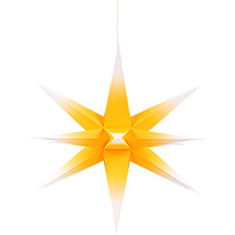 Annaberg Folded Star for Indoor Yellow-White - 35 cm / 13.8 inch