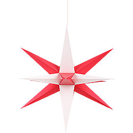 Annaberg Folded Star for Indoor with Red-White Tips - 70 cm / 27.6 inch